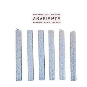 Amabiente-Rondo-Corta-Set-X-6-velas-Silvergrey