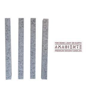 Amabiente-Clasica-Corta-Set-X-4-Velas-Silver-Grey