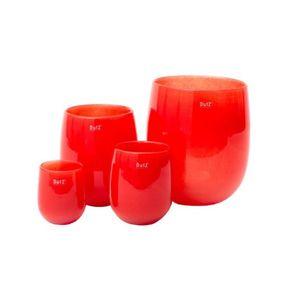 Dutz-Barrel-Florero-Rojo