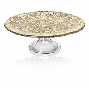 IVV-Arabesque-Porta-Torta-con-Pie-Gold-leaf-decora