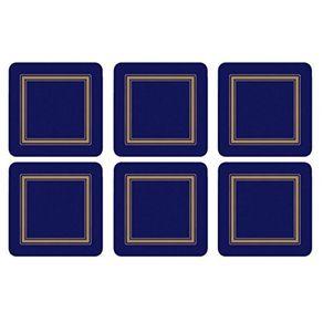 Portmeirion-Classic-Midnight-Set-X-6-Portavasos-cuadrados