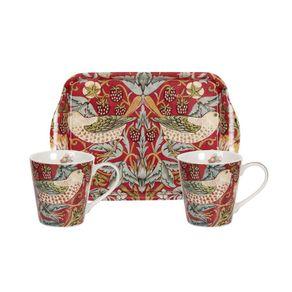 Portmeirion-Strawberry-Thief-Set-X-2-Mugs-y-1-Bandeja