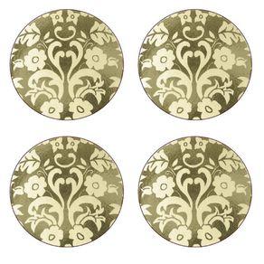 Portmeirion-Damask-Gold-Set-X-4-Portavasos-redondos
