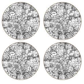 Portmeirion-Damask-Silver-Set-X-4-Individuales-redondos