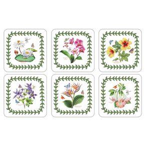 Portmeirion-Exotic-Botanic-Garden-Set-X-6-Portavasos-cuadrados