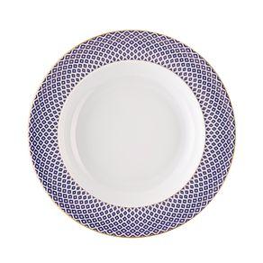 Rosenthal-Francis-Carreau-Plato-Hondo-Azul