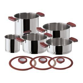 Sambonet-12-O-Clock-Set-X-8-PCS-Bateria-de-Cocina-Rojo-Acero