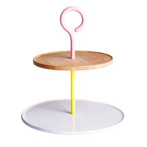 Serax-Jansen---Co-Bistro-Etagere-doble-con-asa-amarilla-rosa