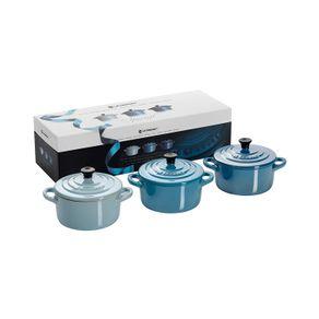 Le-Creuset-Set-X-3-Mini-cocotte-Azul