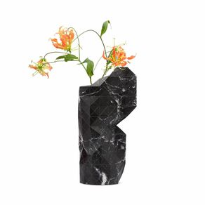 Tiny-Miracles-Florero-Papel-Marble-Black