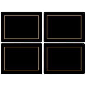 Portmeirion-Pimpernel-Set-X-4-Individuales-Negro
