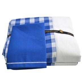 Milliken-Mantel-Cuadros-Azul-Y-Blanco---8-Servilletas-170-X-280-Cms