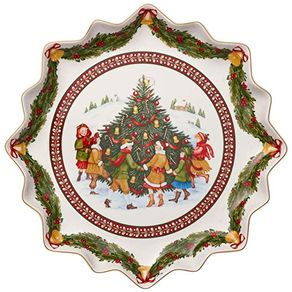 Villeroy-Boch-Toys-Fantasy-Bandeja-Redonda-39-Cm--Arbol-Navidad