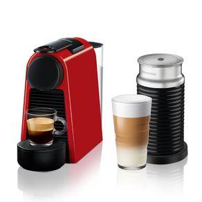 Nespresso-Essenza-Mini-Roja---Espumador-de-leche-Maquina-de-cafe