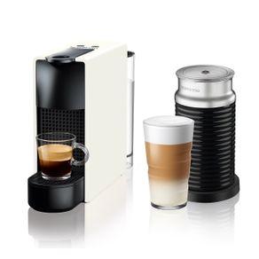 Nespresso-Essenza-Mini-Blanca---Espumador-de-leche-Maquina-de-cafe