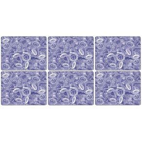 Portmeirion-Blue-Room-Sunflower-Set-X-6-Individuales-30-X-23-Cm