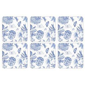 Portmeirion-Botanic-Blue-Set-X-6-Portavasos-cuadrados