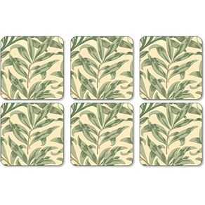 Portmeirion-Willow-Boughs-Green-Set-X-6-Portavasos-10-X-10-Cm