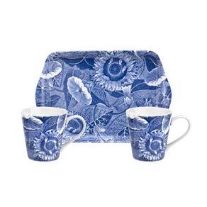 Portmeirion-Blue-Room-Sunflower-Set-X-3-Bandeja-14-Cm---2-Mug-65-Oz.